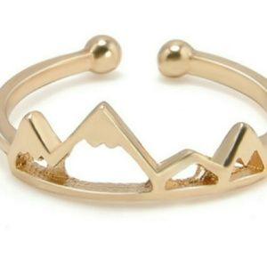 Gold Fashion Mountain Ring
